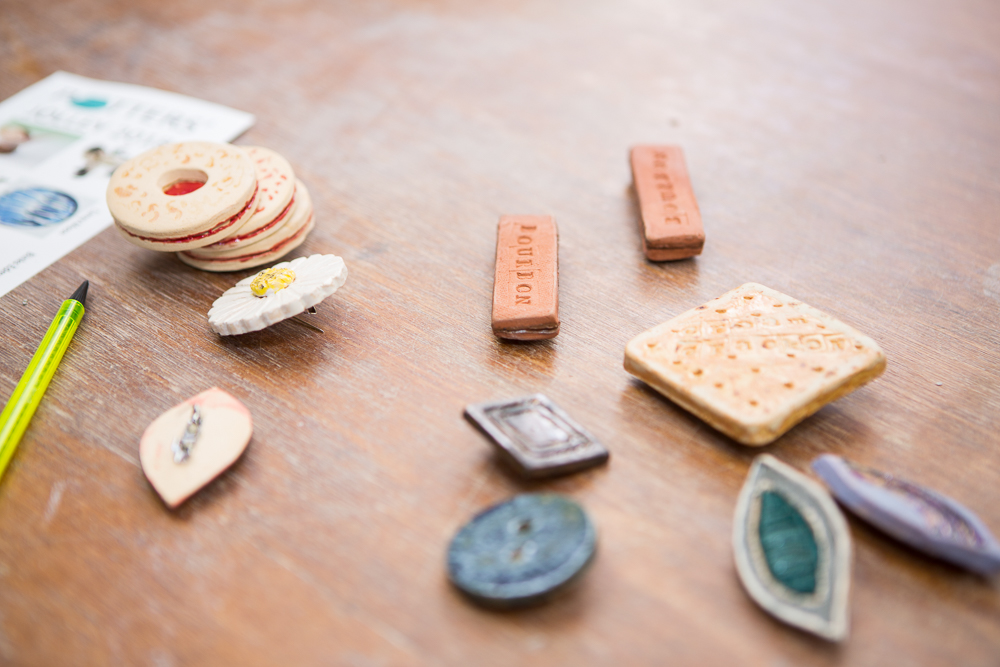Ceramic biscuits made by a student of The Ceramics Studio