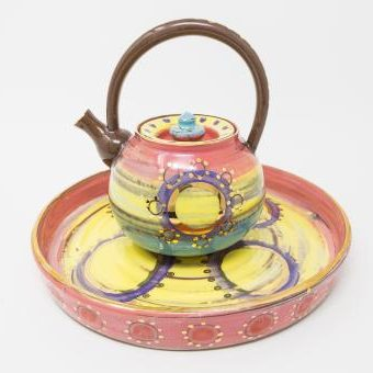 Colombia teapot & tray