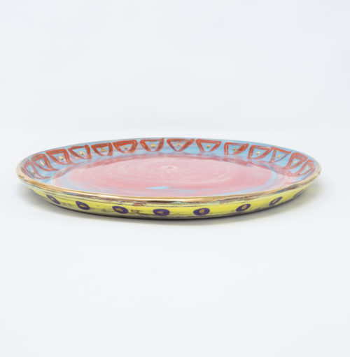 Dinner Plate Pink side view
