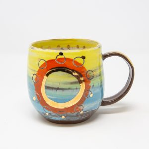 Large Mug – Orange Circles - columbia range