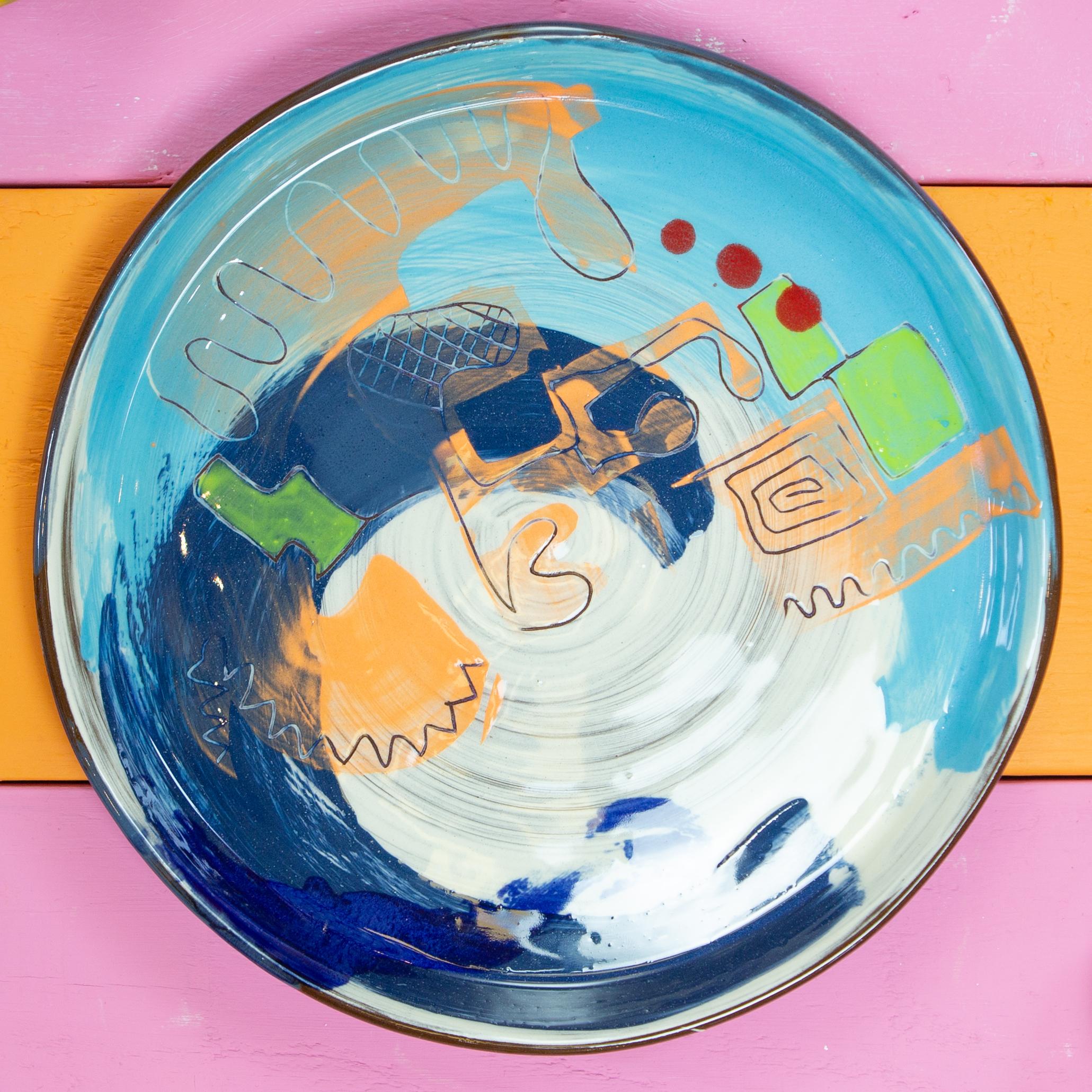Yogi dinner plate by Leyla Folwell