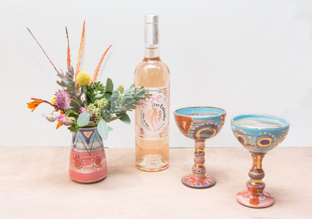 Vases and goblets in Leyla Folwell's Colombia range