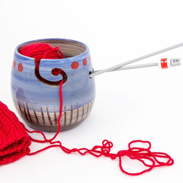 Poppies yarn bowl