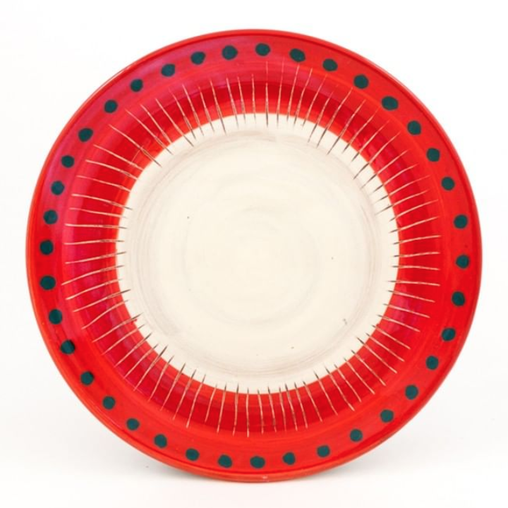 Poppies dinner plate