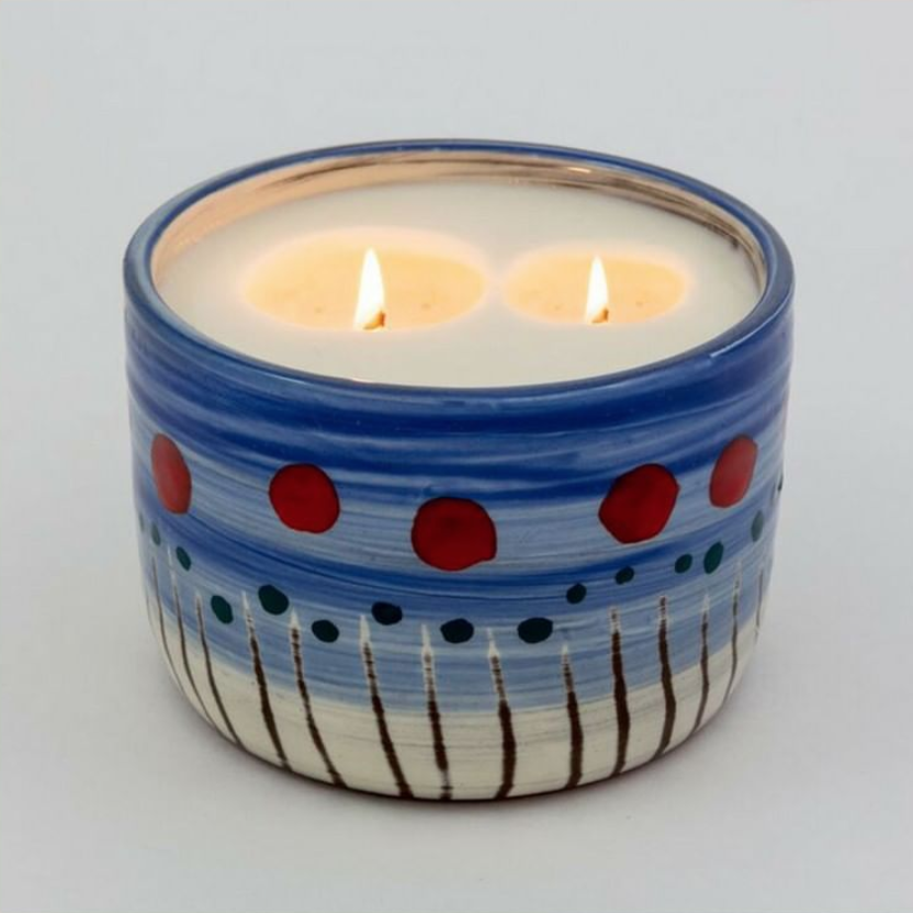 Poppies candle