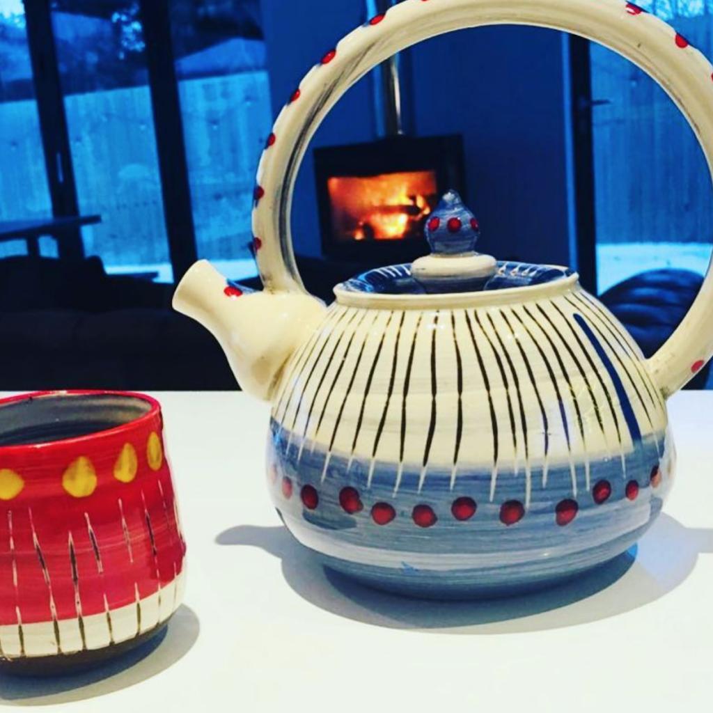 Poppies teapot