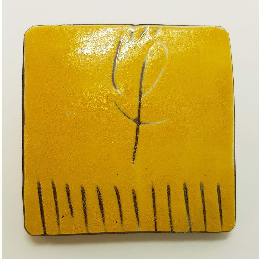 Happy yellow underglaze