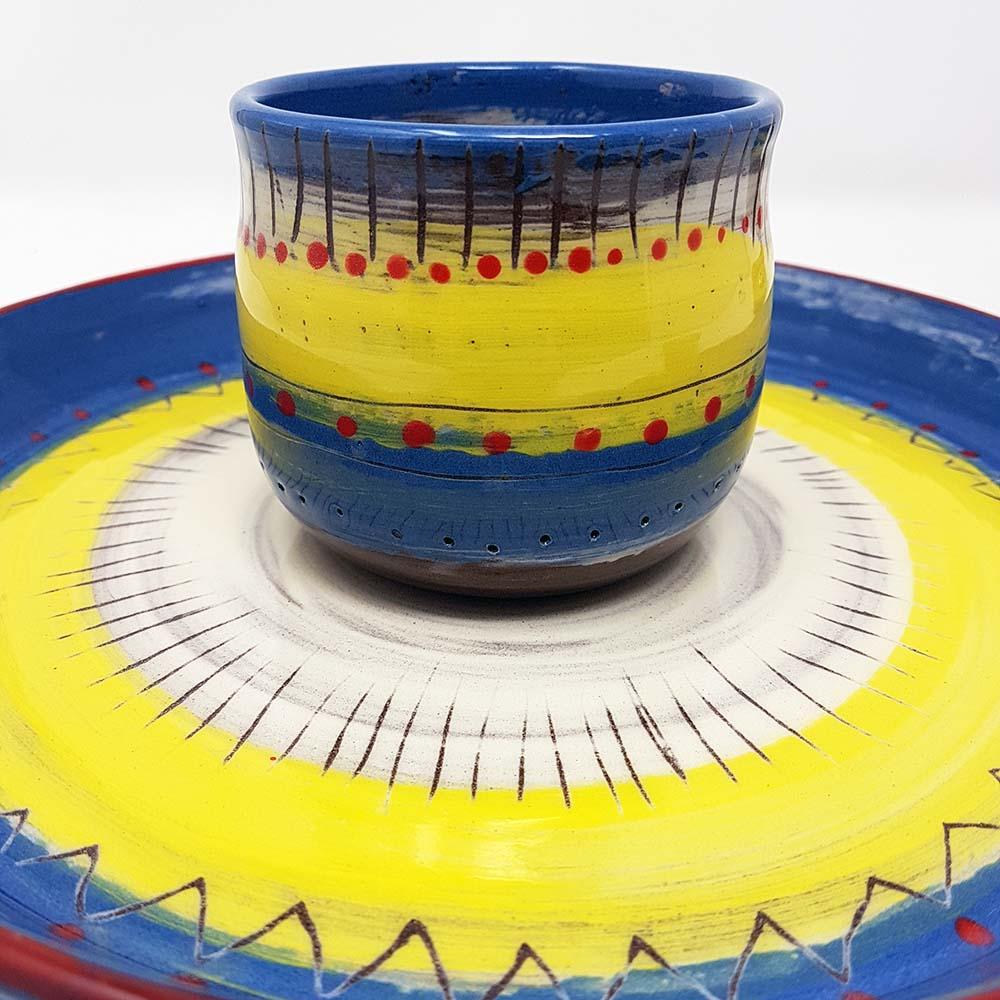 Weave beaker & bowl