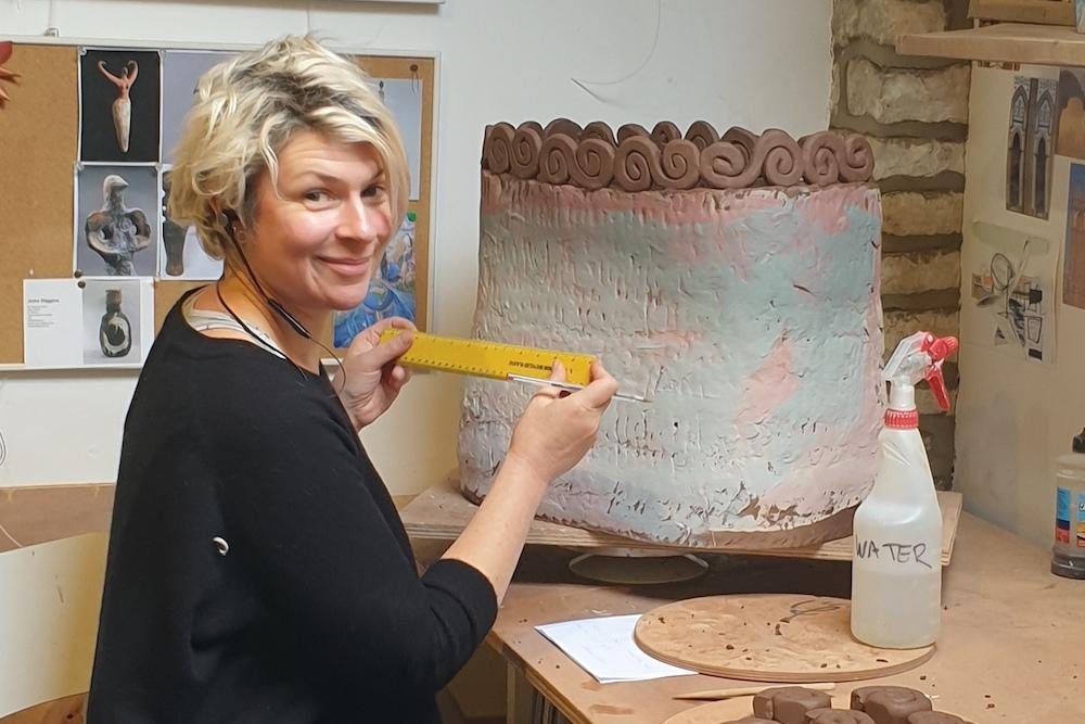 Leyla Coiled Crank Planters