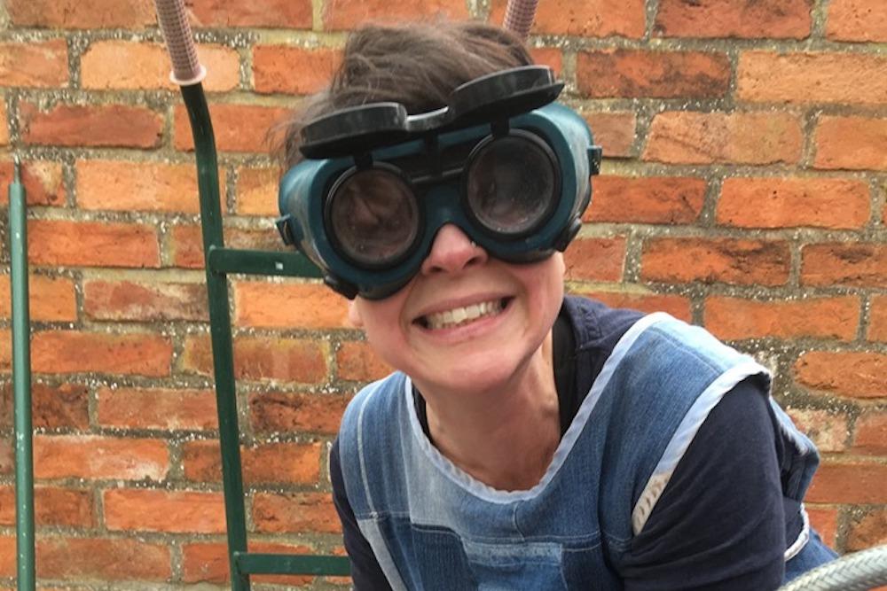 Leyla Folwell in Raku Goggles