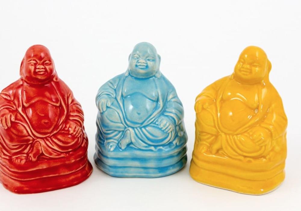 Coloured buddhas
