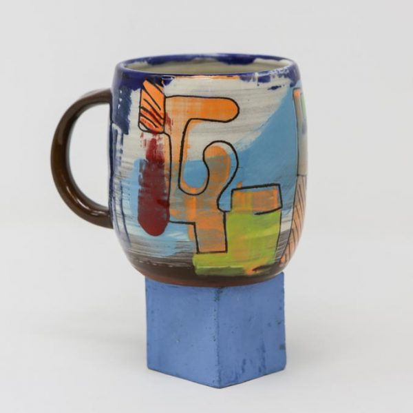 slipware, colour, mug