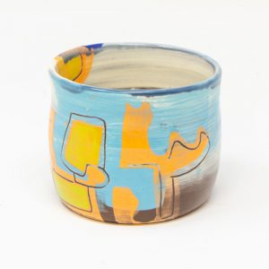 bright slipware drinking vessel